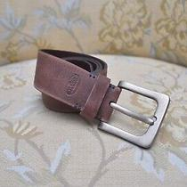Men's Fossil Brown Leather Belt