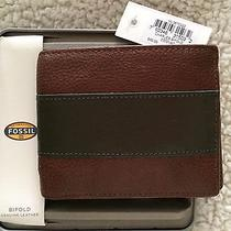 Men's Fossil Charles Bifold Cognac Genuine Leather Wallet     Ml3670222      Nwt Photo