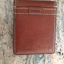 Men's Fossil Leather Wallet Photo