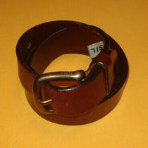 Men's Fossil Light Brown Genuine Leather Belt Size 34/85cm.. Photo