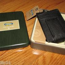 Men's Fossil  Magnetic Multi Card Wallet With Money Clip Ml4195001 Black  Photo