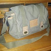 Men's Fossil Messenger Bag Cloth Brown/tan Photo