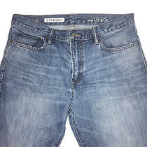 Men's Gap 1969 Jeans Denim Pants Size 34 X 32 Straight Blue Distressed Photo