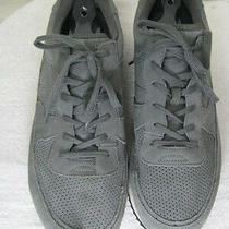 Mens Gap Canvas Tennis Athletic Leather Gray Shoe 12 Photo
