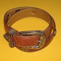 Men's Gap Light Brown Genuine Leather Belt With Metal Studs Size 32/80cm. Photo