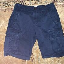 Men's Gap Navy Blue Cargo Shorts 28 Regular Photo