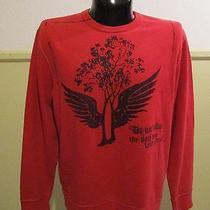 Men's Gap Red 100% Cotton Long Sleeve Crew Neck Sweatshirt Size L Nwot Photo