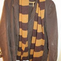 Men's Gap Scarf and Mossimo Jacket Combo Brown Gold Lot Harry Potter Style Photo