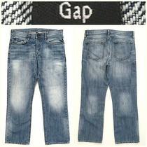 Men's Gap Size 34 X 30 Straight Blue Jeans 14a7 Photo
