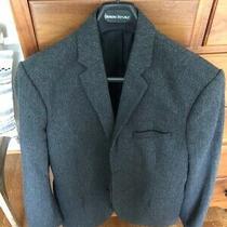Men's Gap Tailored Gray Herringbone Two Button Blazer Suit Jacket 42 Regular Photo