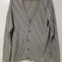 Men's Gianni Versace Collection Grey Cotton Cardigan Size M Photo