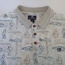 Men's Givenchy Active Wear Polo Shirt Xl Golf Clubs Bag Print Button Front Photo