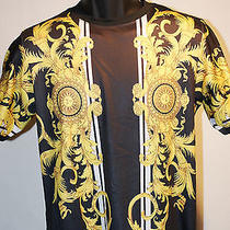 Men's Givenchy Baroque Versace Style  Black With Golden Dragon U.s. Medium Photo