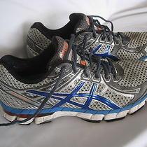 Men's Gray/blue Fluidride Gel Asics Gt-2000 Athletic Running Sneakers 8 1/2  Photo