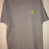 Men's Gray Express Polo Shirt Size Xl Photo