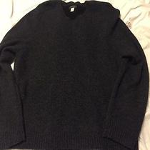 Men's Gray Express Wool Sweater Size Large Photo
