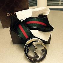 Men's Gucci Belt Black/green/red 90cm (Waist 30-32) Photo