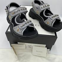 Mens Gucci Leather/mesh Studded Sandals Size 8 Fits Like 9 Us Made in Italy Photo