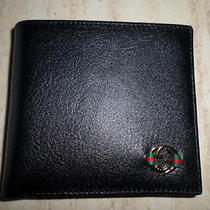 Men's Gucci Leather Wallet Black Colour With New Gucci Style Photo