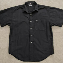Men's Guess by Georges Marciano Black Shirt Medium Vintage 2000's Photo