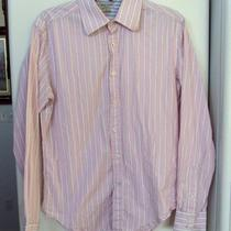 Men's Guess Jeans Pink/white Long Sleeve Button Down Shirt Sz M Photo