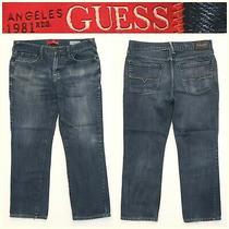 Men's Guess Size 33 X 28 Straight Del Mar Fit Blue Jeans 14a8 Photo