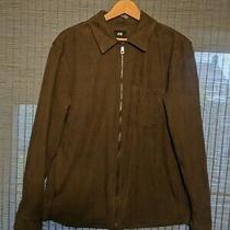 Men's h&m Jacket Faux Suede Khaki Green Size M Photo