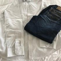 Men's h&m Shirt Sz M & Guess Jeans Rebel Straight Fit Sz 12 Lot Photo