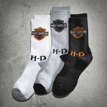 Men's Harley Davidson 3-Pack Logo Socks Black Grey & White Photo