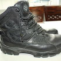 Men's Harley Davidson Hawkins Black Leather Motorcycle 95129 Boots Size 9.5 Vv2 Photo