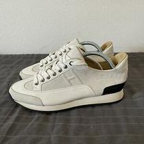 Mens Hermes Cream Leather Sneakers Size 41- 8 Us Photo