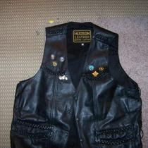 Men's Hudson Leather Motorcycle Vest Photo