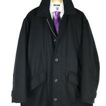 Men's Hugo Boss Brasov Coat Jacket Wool Casual Black Overcoat Size - 52 Photo