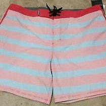 Men's Hurley Board Shorts Swim Surf Skate Trunks Boardshorts 36 Red Blue 55 Photo