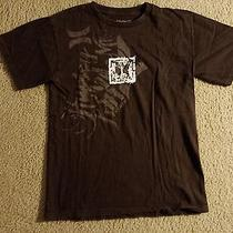 Men's Hurley Graphic T-Shirt Tee Brown Tan Black Birds Skate Surf Board Small Photo