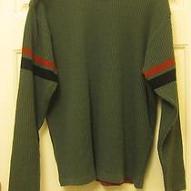 Men's Hurley Int. Medium 100% Acrylic Green Sweater Free Shipping Photo