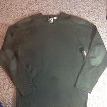 Men's Hurley Medium 100% Acrylic Green Sweater Ked Photo