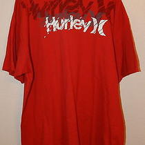 Men's Hurley Red Short Sleeve Tee-Shirt (Size 2xl) Euc Photo