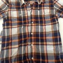 Men's Hurley Short Sleeve Button Up Shirt L Large Used Nice Photo