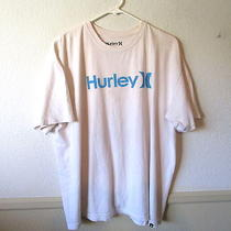 Men's Hurley White Regular Fit Short Sleeve T-Shirt Size Xl Photo