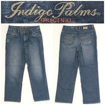 Men's Indigo Palms Tommy Bahama Size 34 X 32 Original Blue Jeans 8b8 Photo