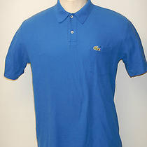 Men's Izod Lacoste Sz. Large Blue Ss Mesh Polo Shirt Free Shipping Photo