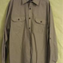 Men's Khaki Shirt by Eddie Bauer Relaxed Fit Size L Photo