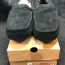 Men's Koolaburra by Ugg Tipton Moccasin Slipper Black Suede Size 9 Photo