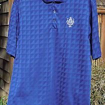 Men's L Adidas Climacool Blue Ss Golf Shirt - Detroit Golf Club Logo - Excellent Photo