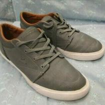 Men's Lacoste Bayliss Gray Leather Shoes Sneakers Size 9.5 Photo