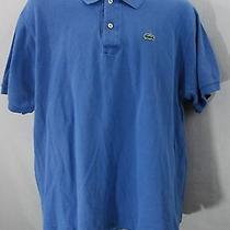 Men's Lacoste Casual Dress 100% Cotton Polo Shirt Sz 7 (Xl) Solid (Blue) 24 Photo