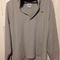 Men's Lacoste Gray 1/2 Zip Sweater Like New Size 4 5 6 Photo