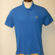 Men's Lacoste Live Sz. 6 Large Blue Ss Mesh Polo Shirt Free Shipping Photo