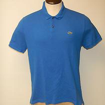Men's Lacoste Live Sz. 6 Large Blue Ss Mesh Polo Shirt Free Shipping Photo